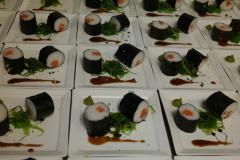 Walking dinner sushi